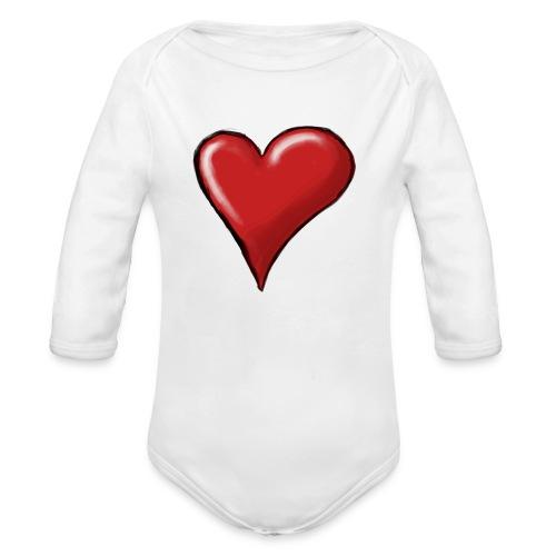 Love (coeur) - Body Bébé bio manches longues