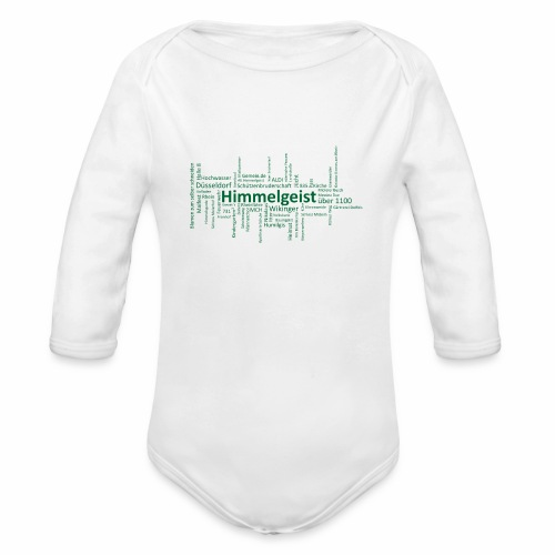 Standard Shirt grün - Baby Bio-Langarm-Body