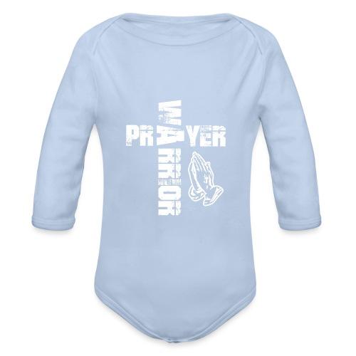 Prayer Warrior White Special - Baby Bio-Langarm-Body
