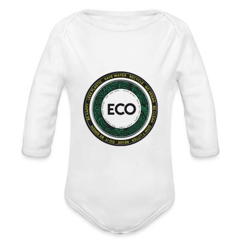 eco-illustration-logo-rot - Organic Longsleeve Baby Bodysuit