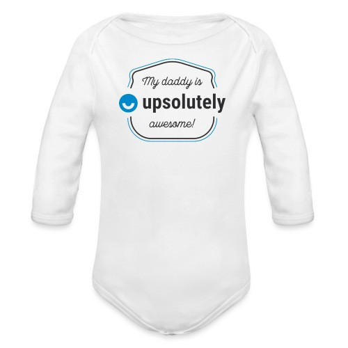 upday awesome daddy - Organic Longsleeve Baby Bodysuit