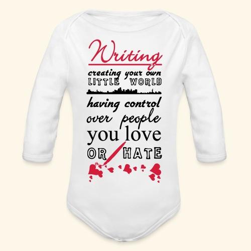 Writing - Organic Longsleeve Baby Bodysuit