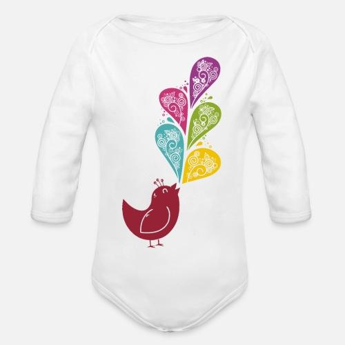 Singvogel - Baby Bio-Langarm-Body