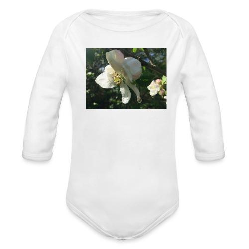 The Flower Shirt - Æble - Langærmet babybody, økologisk bomuld