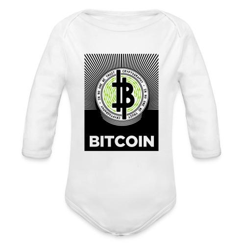 Bitcoin Light BG - Organic Longsleeve Baby Bodysuit