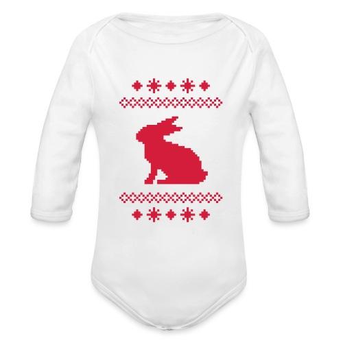 Norwegerhase hase kaninchen häschen bunny langohr - Baby Bio-Langarm-Body