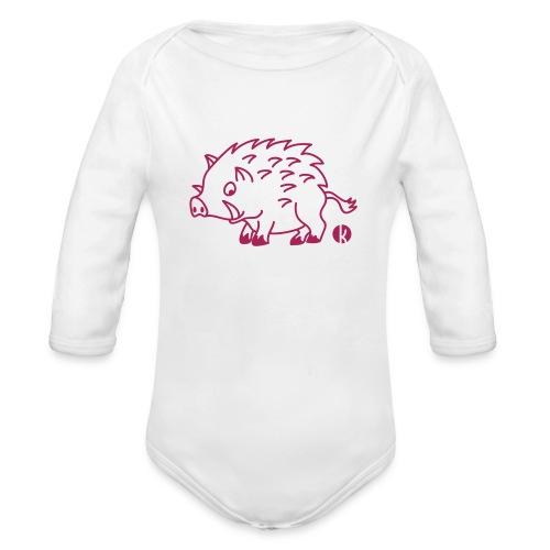 Wildschwein - Baby Bio-Langarm-Body