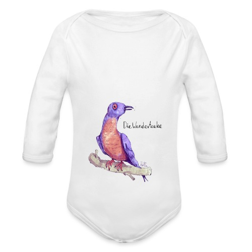Wandertaube - Baby Bio-Langarm-Body