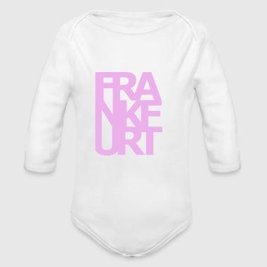 Frankfurt - Ekologiczne body niemowlęce z długim rękawem