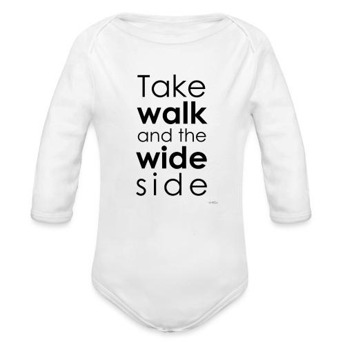 LOU-REDD-walk-black - Body Bébé bio manches longues