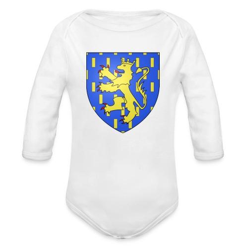 Blason de la Franche-Comté avec fond transparent - Body Bébé bio manches longues