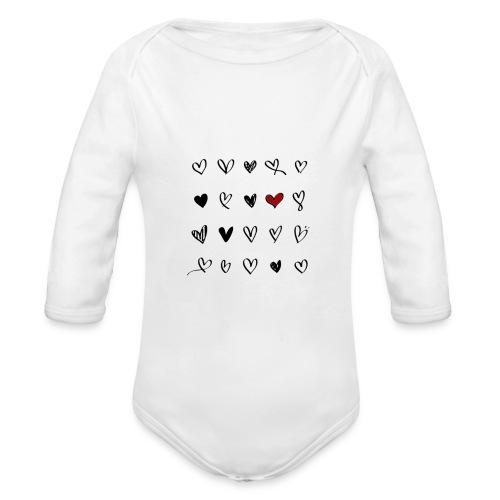 valentines hearts - Body Bébé bio manches longues