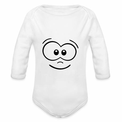 Gesicht fröhlich - Baby Bio-Langarm-Body