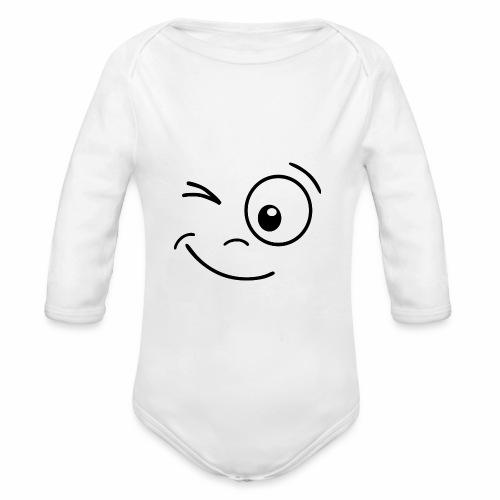 Gesicht zwinkern - Baby Bio-Langarm-Body