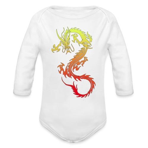 Golden Dragon - Organic Longsleeve Baby Bodysuit