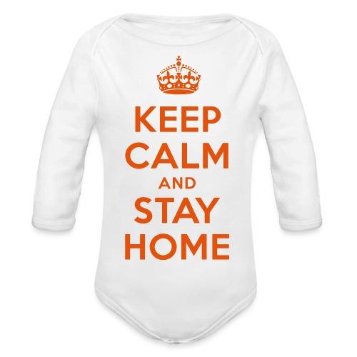 KEEP CALM and STAY HOME - Baby Bio-Langarm-Body
