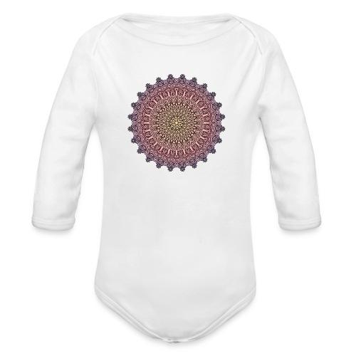 Mandala Sonnenuntergang - Baby Bio-Langarm-Body