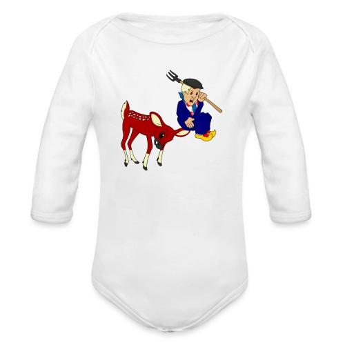 hert vs boer kind - Baby bio-rompertje met lange mouwen