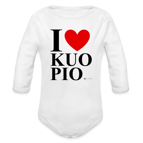 I LOVE KUOPIO ORIGINAL (musta) - Vauvan pitkähihainen luomu-body