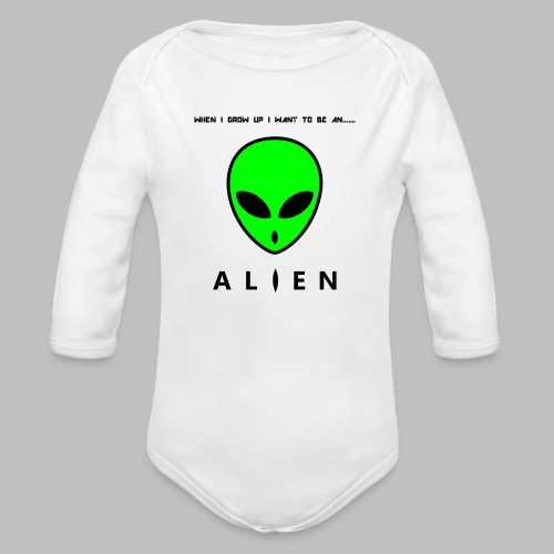 Alien - Organic Longsleeve Baby Bodysuit