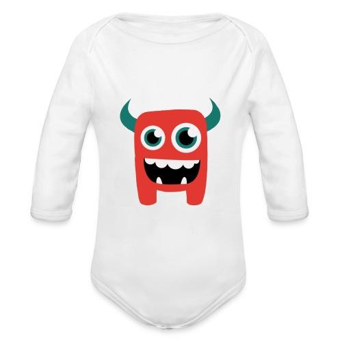 Kleines Monster - Baby Bio-Langarm-Body