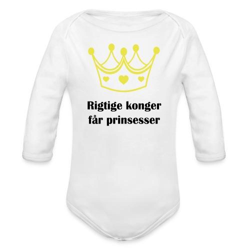 konger - Langærmet babybody, økologisk bomuld