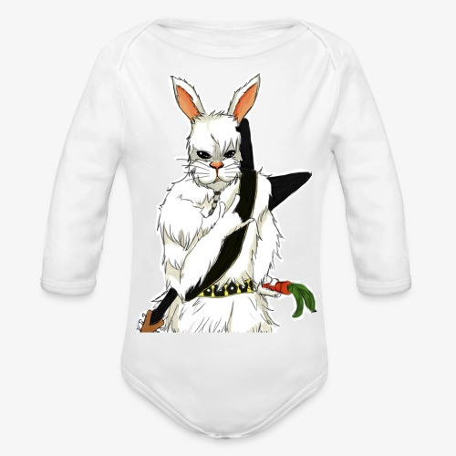 The white Rabbit - Økologisk langermet baby-body
