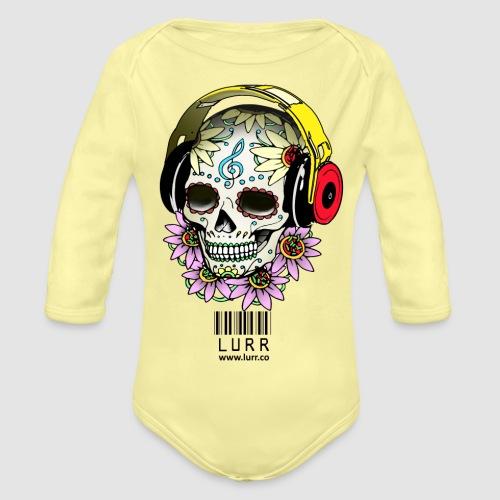 smiling_skull - Organic Longsleeve Baby Bodysuit