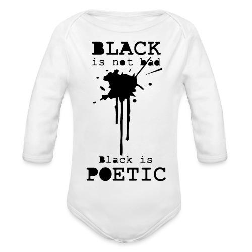 black is poetic - Body Bébé bio manches longues