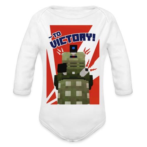 Dalek Mod - To Victory - Organic Longsleeve Baby Bodysuit