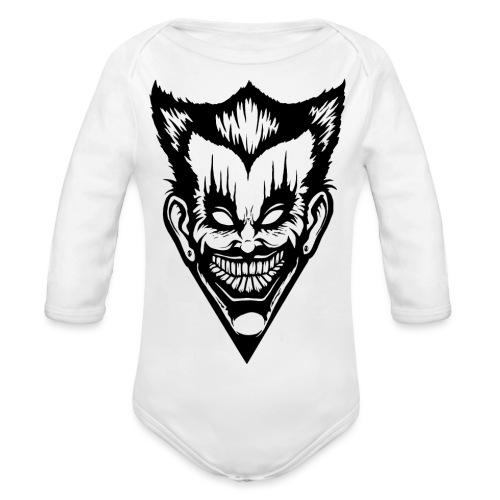 Horror Face - Baby Bio-Langarm-Body