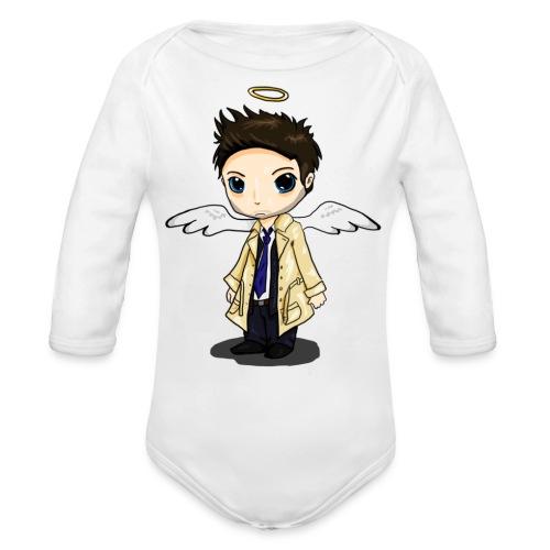 Team Castiel (dark) - Organic Longsleeve Baby Bodysuit