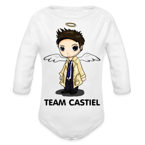 Team Castiel (light) - Organic Longsleeve Baby Bodysuit