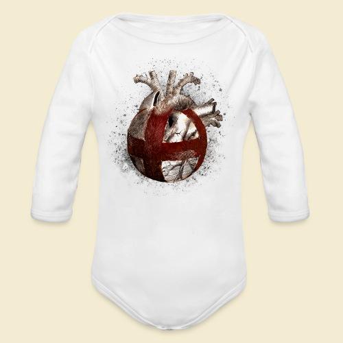 Radball | Cycle Ball Heart - Baby Bio-Langarm-Body