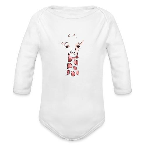 BabyCute 'Giraffe' by Isobel & Kristoff - Organic Longsleeve Baby Bodysuit