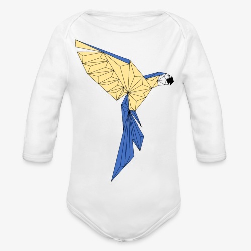 Papagei geometrisch - Baby Bio-Langarm-Body
