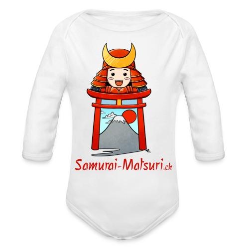 Samurai Matsuri Torii - Baby Bio-Langarm-Body
