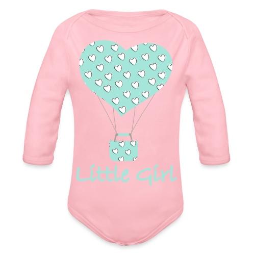 Little Girl in mongolfiera - Body ecologico per neonato a manica lunga