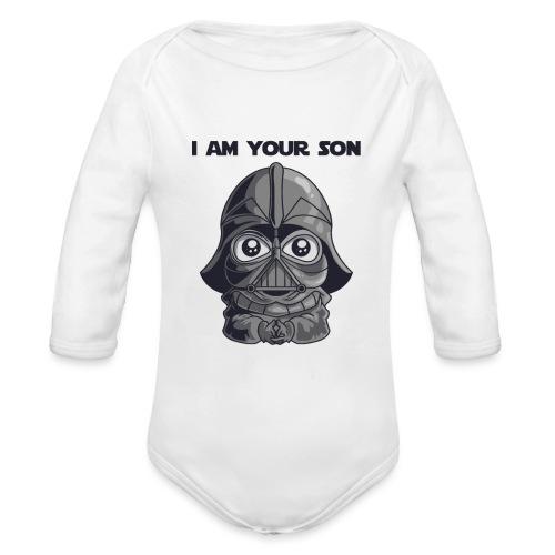 Baby Body mit Star War Design I am Your Son - Baby Bio-Langarm-Body