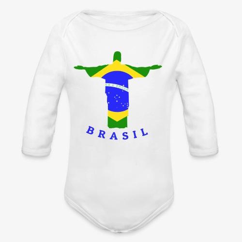 Brasil Flag Statue - Baby Bio-Langarm-Body
