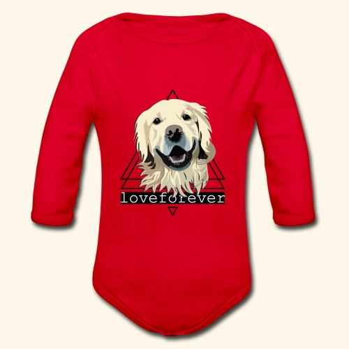 RETRIEVER LOVE FOREVER - Body orgánico de manga larga para bebé