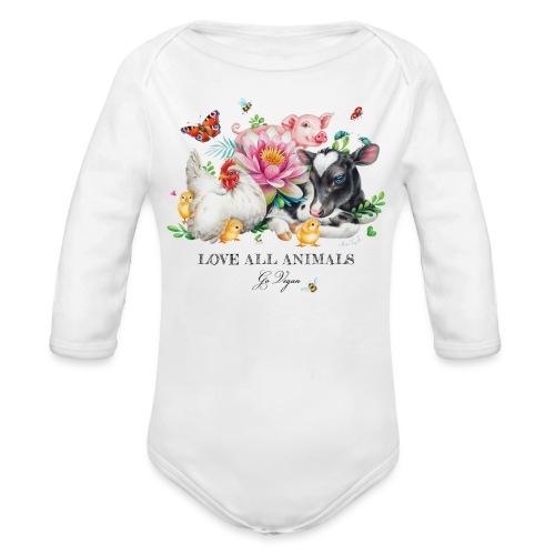Go vegan - Organic Longsleeve Baby Bodysuit