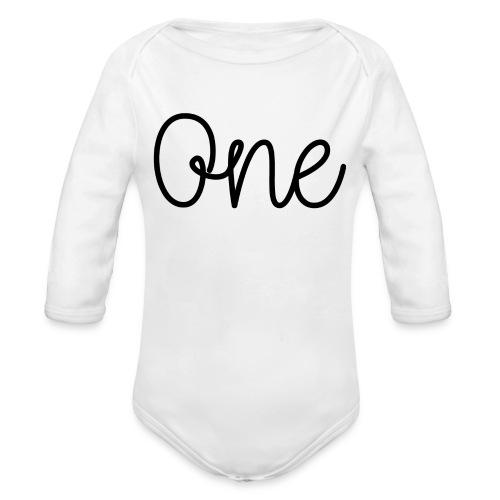 One Black - Organic Longsleeve Baby Bodysuit