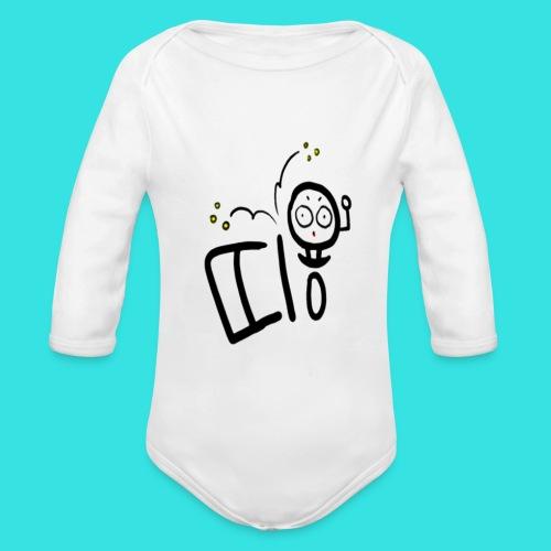 11b - Ekologiczne body niemowlęce z długim rękawem