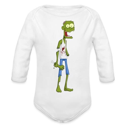 zombie - Body ecologico per neonato a manica lunga