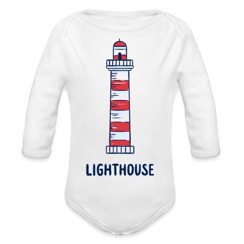 Lighthouse - Baby Bio-Langarm-Body