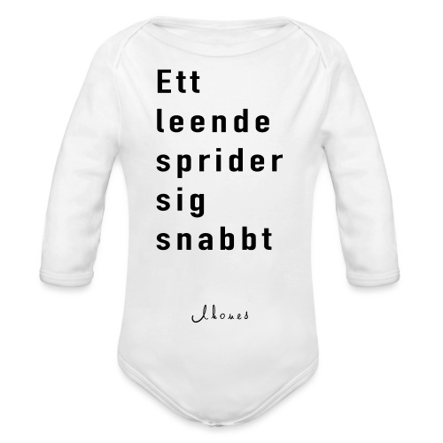 A smile spreads quickly - Organic Longsleeve Baby Bodysuit
