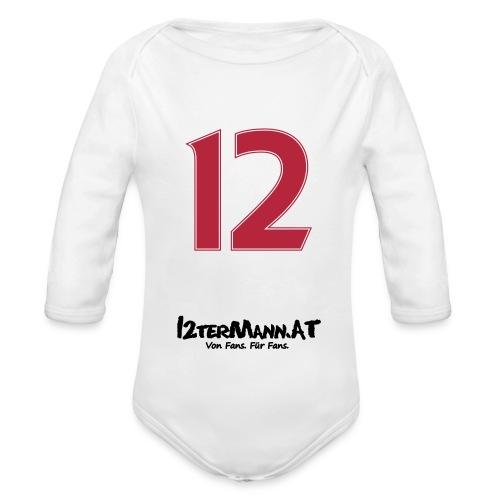 12termann mitfans - Baby Bio-Langarm-Body