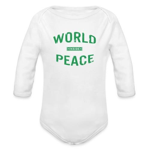 World Peace Green - Baby Bio-Langarm-Body