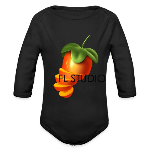 Sliced Sweaty Fruit - Organic Longsleeve Baby Bodysuit